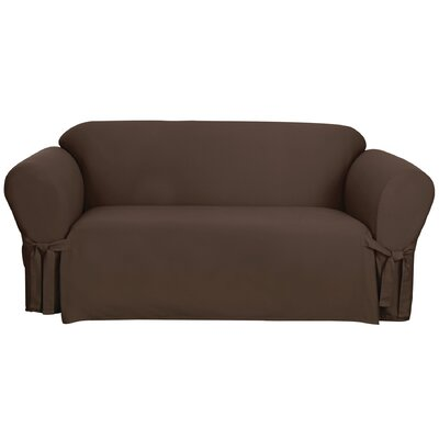 cotton duck sofa slipcover wayfair. Black Bedroom Furniture Sets. Home Design Ideas