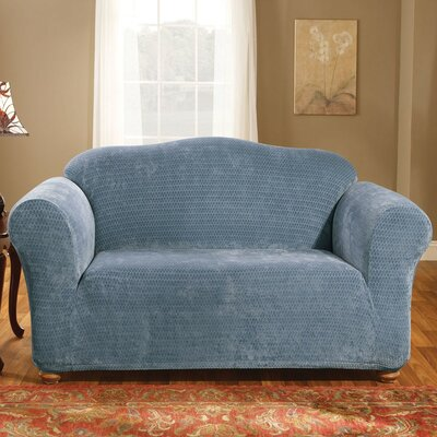 Stretch Royal Diamond Loveseat Slipcover