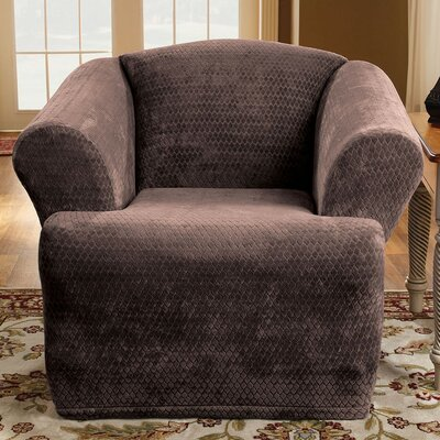 Sure-Fit Stretch Royal Diamond T-Cushion Chair Slipcover
