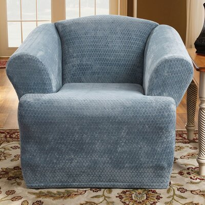 Stretch Royal Diamond T-Cushion Chair Slipcover