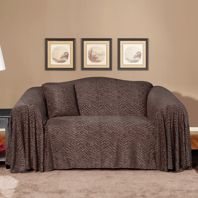 Plush Animal Loveseat Throw Slipcover
