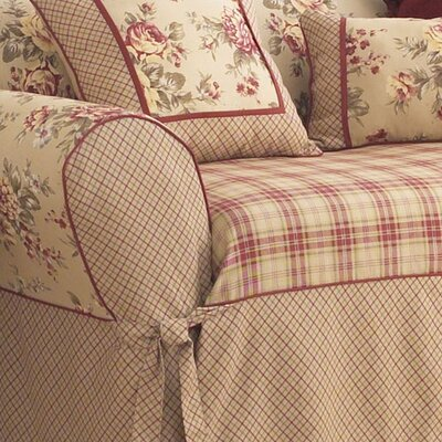 Sure-Fit Lexington Wing Chair T-Cushion Slipcover