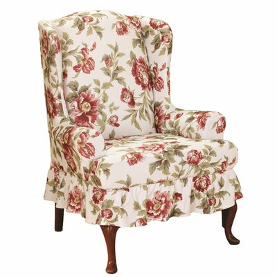 Sure-Fit Stretch Olivia Wing Chair T Cushion Slipcover