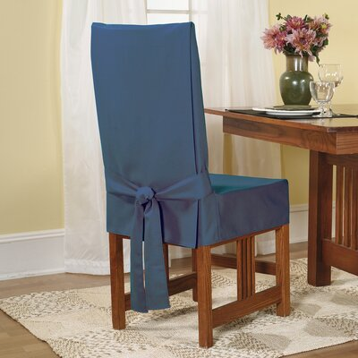 Sure-Fit Cotton Duck Shorty Dining Chair Slipcover
