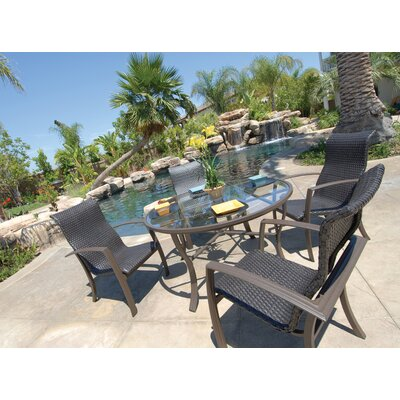 Koverton Escape 5 Piece Woven Dining Set