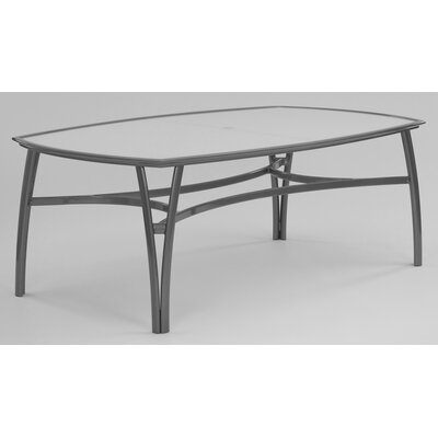 Modone Rectangle Dining Table with Umbrella Hole