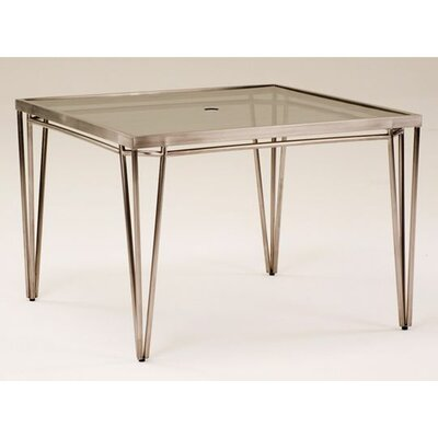 Koverton Klip Square Glass Top Dining Table with Umbrella Hole