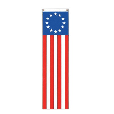 Patriotic Colonial 13-Star Vertical Flag