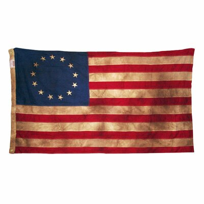 Heritage Series Colonial Antiqued United States Traditional Flag