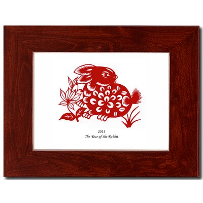Oriental Design Gallery Year of the Rabbit 01 Framed Graphic Art