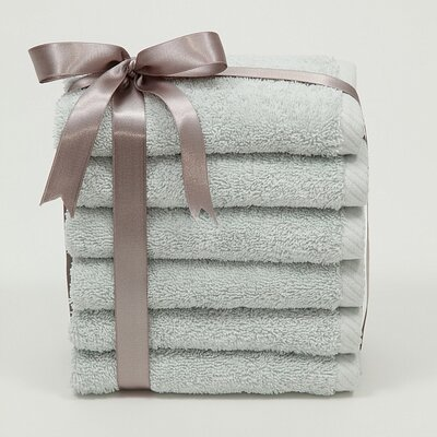 Linum Home Textiles Soft Twist 100% Turkish Cotton Wash Cloth (Set of 6)