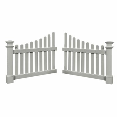 New England Arbors Cottage Picket Wings in White (Set of 2)