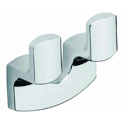 Moda Collection Movin Double Robe Hook in Chrome