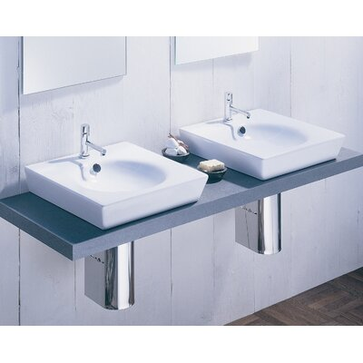 Moda Collection East Vessel Sink in White