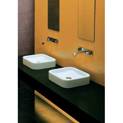Moda Collection East Vessel Sink without Overflow in White