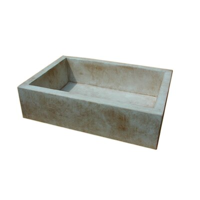 "Moda Collection Farmhouse 33.75"" x 24"" Concrete Kitchen Sink"
