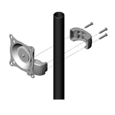 Chief Manufacturing Dual Swing Pole Mount for LCD