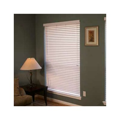 "Fauxwood Impressions Insulation Blind in White - 60"" H"