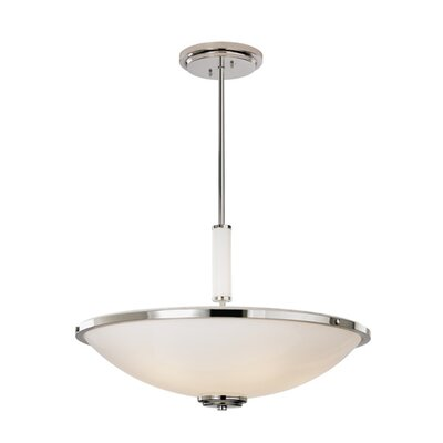 ILEX Lighting Fussen Bowl Pendant with Glass Tubing
