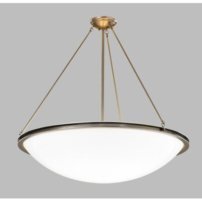 ILEX Lighting Regent Bowl Pendant with Triple Stem