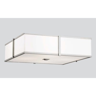 "ILEX Lighting Hatbox 16"" Square Flush Mount"