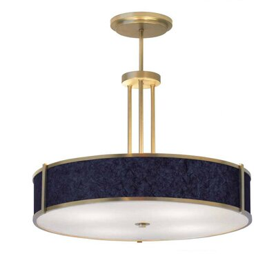 ILEX Lighting Hatbox Round Pendant with Triple Stem