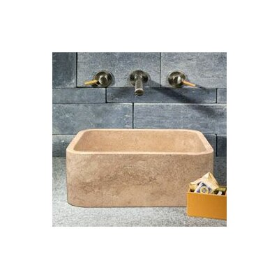 Rectangular Shape Vessel Bathroom Sink - V-VGRTST-Café Blanc