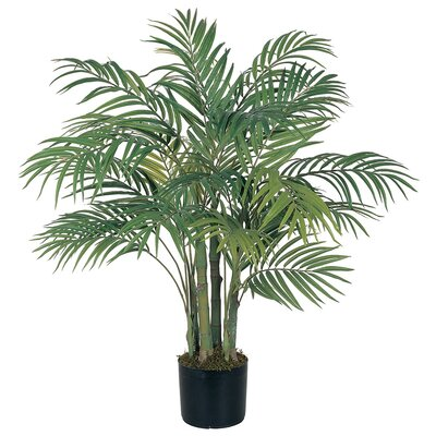 Nearly Natural Silk Areca Palm Tree in Pot