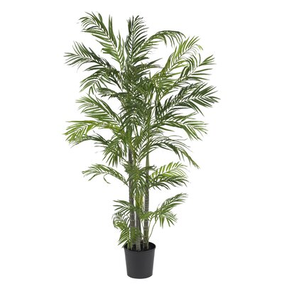 Nearly Natural 5' Silk Areca Palm Tree in Green