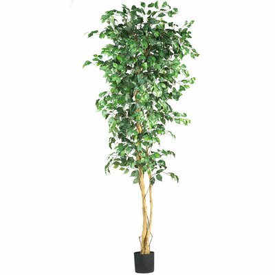 Nearly Natural Ficus Silk Tree in Pot