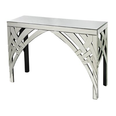 Curved Ribbon Mirrored Console
