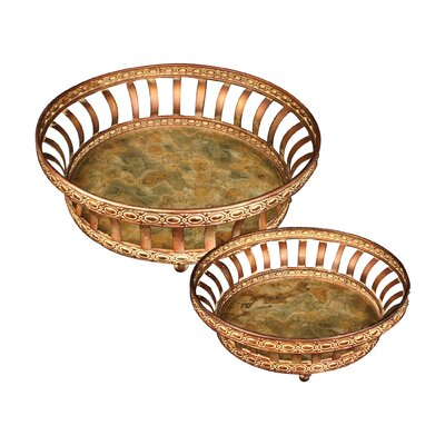 Sterling Industries Appaloosa 2 Piece Round Serving Tray Set