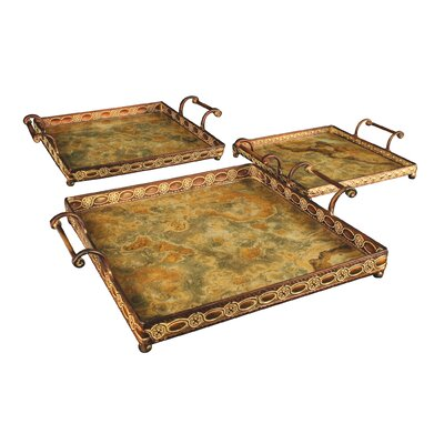 Sterling Industries Malta 3 Piece Serving Tray Set