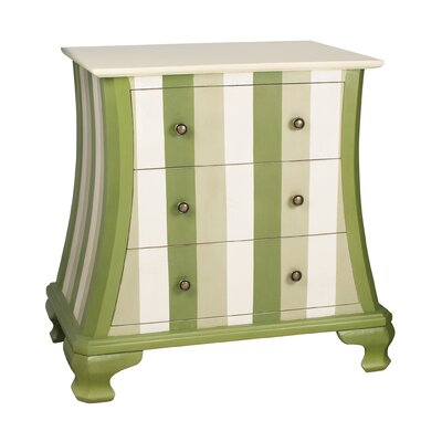 Sterling Industries Chevron 3 Drawer Chest