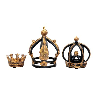 Sterling Industries 3 Piece Crown Figurine