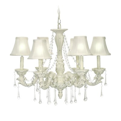 Blanche Boudoir 6 Light Chandelier