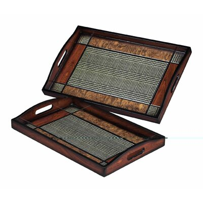 Sterling Industries Checked Tray (Set of 2)