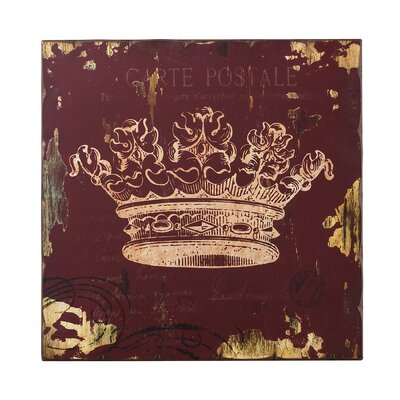 Sterling Industries Crown Print Wood Wall Décor