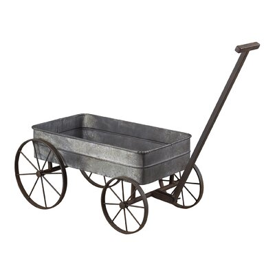 Sterling Industries Metal Cart Planter with Handle
