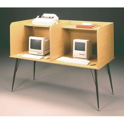 Ironwood General Side by Side Laminate Computer Study Carrel