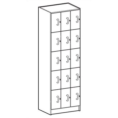 Ironwood Solid HPL Door Music Storage: 15 Equal Compartments