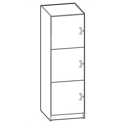 Ironwood Solid HPL Door Music Storage: 3 Equal Compartments