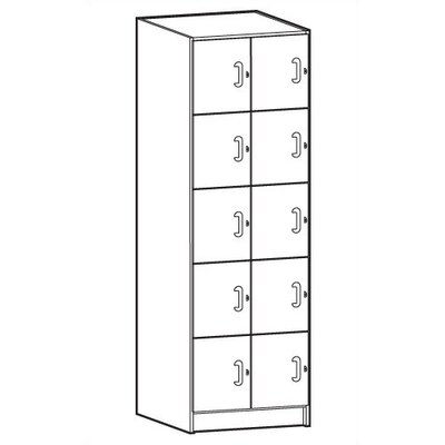 Ironwood Solid HPL Door Music Storage: 10 Compartments