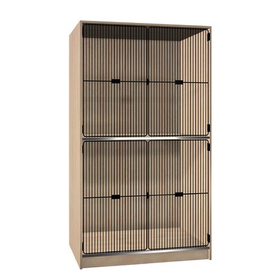 Ironwood Solid Grill Door Music Storage: 2 Equal Compartments