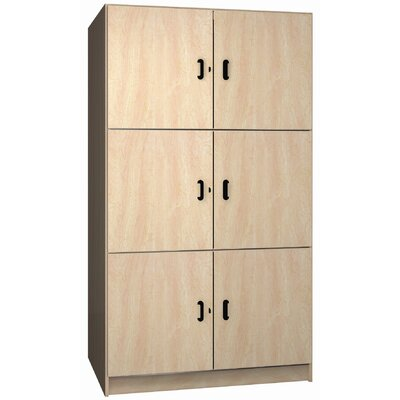 "Ironwood Solid Melamine Door Music Storage: 3 Equal Compartments with 48"" W"
