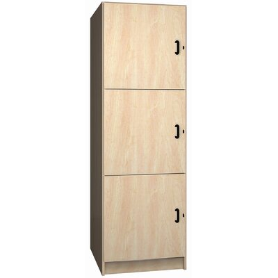 Ironwood Solid Melamine Door Music Storage: 3 Equal Compartments