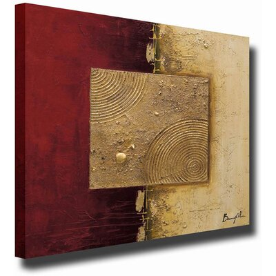 White Walls 'Crimson Pearl' Canvas Art