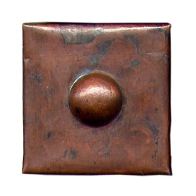 "D'Vontz Grommet 2"" x 2"" Copper Border Tile in Dark Copper"