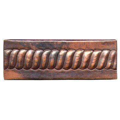 """D'Vontz Chord 6"""" x 2"""" Copper Border Tile in Dark Copper"""