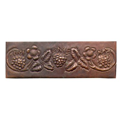 "D'Vontz Grape Vine 6"" x 2"" Copper Border Tile in Dark Copper"